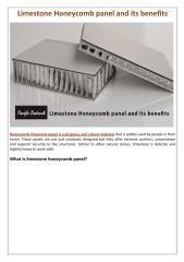 Limestone Honeycomb panel and its benefits.pdf