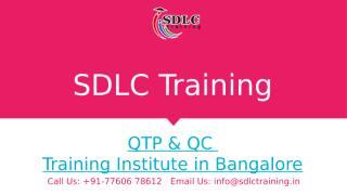QTP & QC Course Training in Marathahalli, Bangalore.pptx